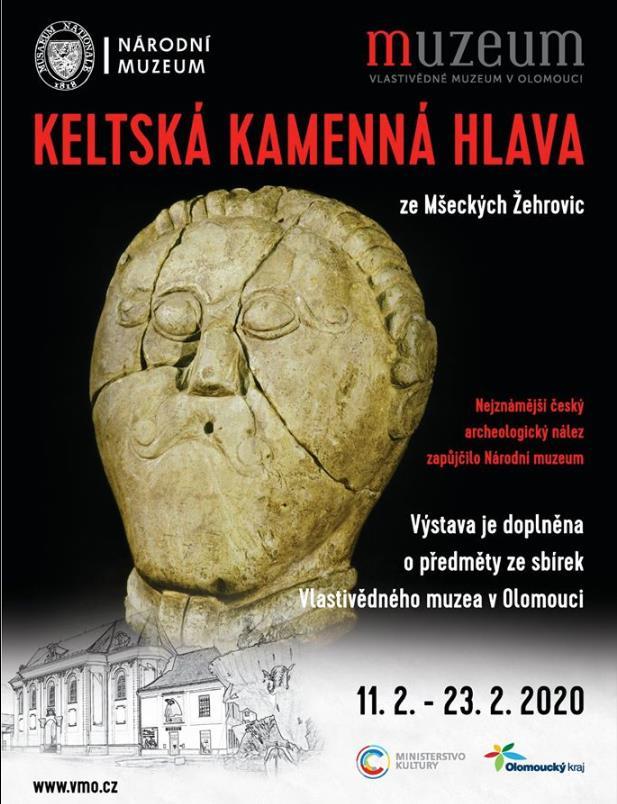 Jeden z nejcennějších a nejznámějších archeologických nálezů České republiky ve Vlastivědném muzeu v Olomouci! Po Věstonické venuši přichází poprvé do Olomouce KELTSKÁ KAMENNÁ HLAVA!