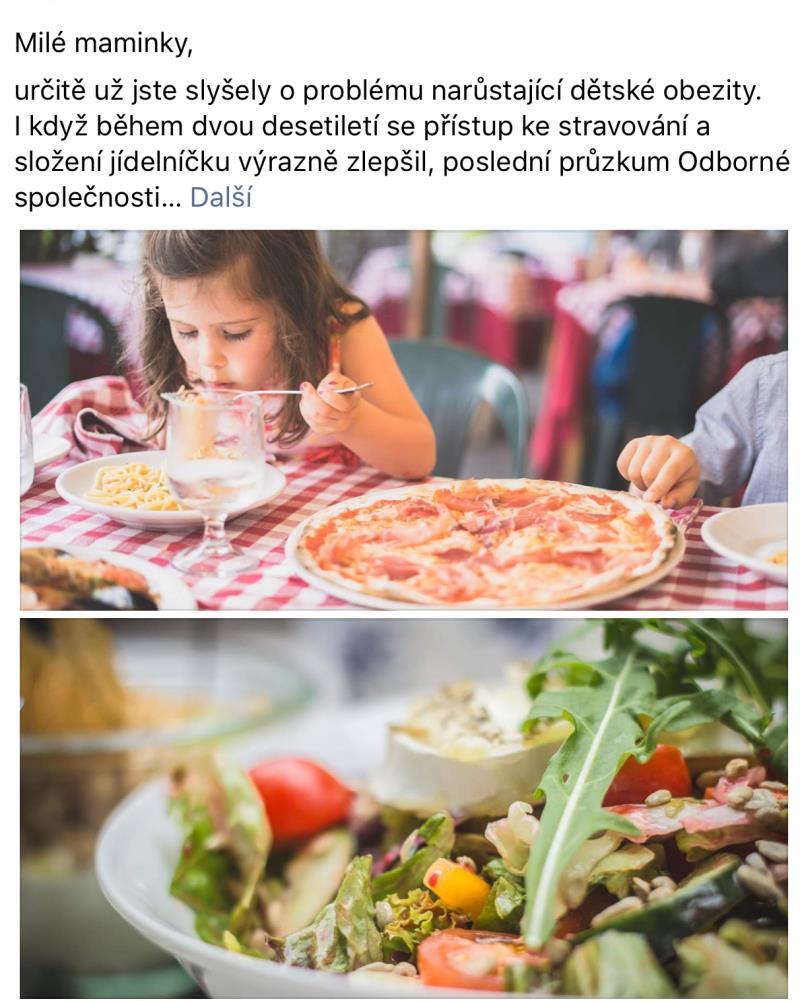 Dětská obezita hrozí každému dítěti.. Přijďte se informovat.