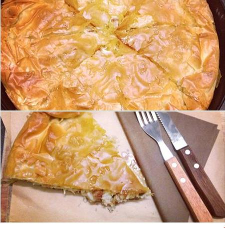 Kreatopita-tradiční řecký koláč s masovou směsí