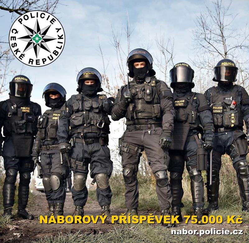 PROSÍME O SDÍLENÍ !! Policie České republiky v Olomouckém kraji navyšuje počty policistů a policistek. Nabízí náborový příspěvek 75.000 Kč, 6 týdnů dovolené a spoustu dalších benefitů.