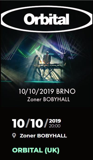 Je nám ctí, že 10. října v Brně přivítáme legendární duo ORBITAL a zveme vás zažít jejich neuvěřitelnou hudebně-světelnou show!