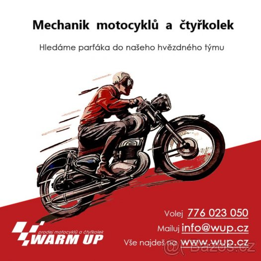 Hledáme parťáka: Mechanik motocyklů a čtyřkolek
