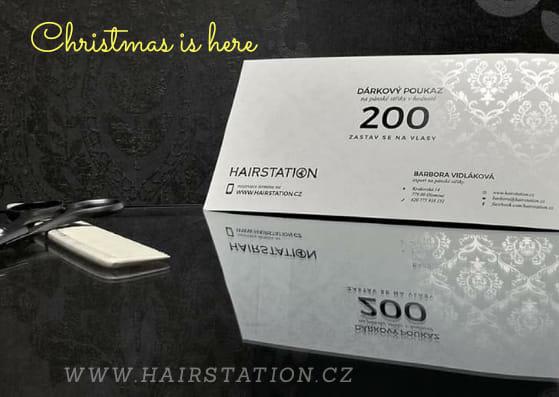Dárkový poukaz do Hairstation, se bude během roku určitě hodit každému muži.
