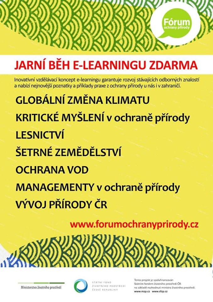 Sdílíme s vámi zajímavou nabídku  Fórum ochrany přírody, z.s., nabízí nový běh e-learningových kurzů, které jsou tématicky spojené s ochranou přírody a krajiny. Kurzy jsou toto jaro ZDARMA.