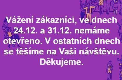 informace k Vánoční době.