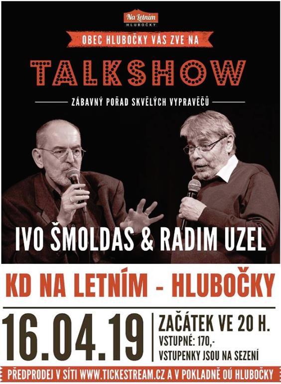 Zastavte se u nás v Hlubočkách na brilantní talkshow s báječnými vypravěči a baviči! Vstupenky v obvyklých předprodejích!
