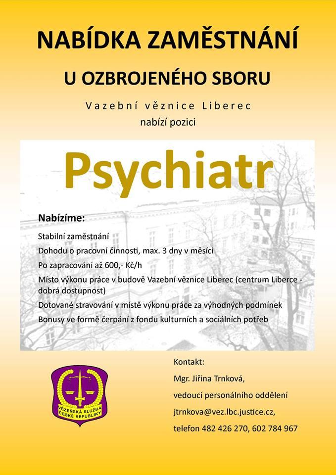 Přijmeme psychiatra ...