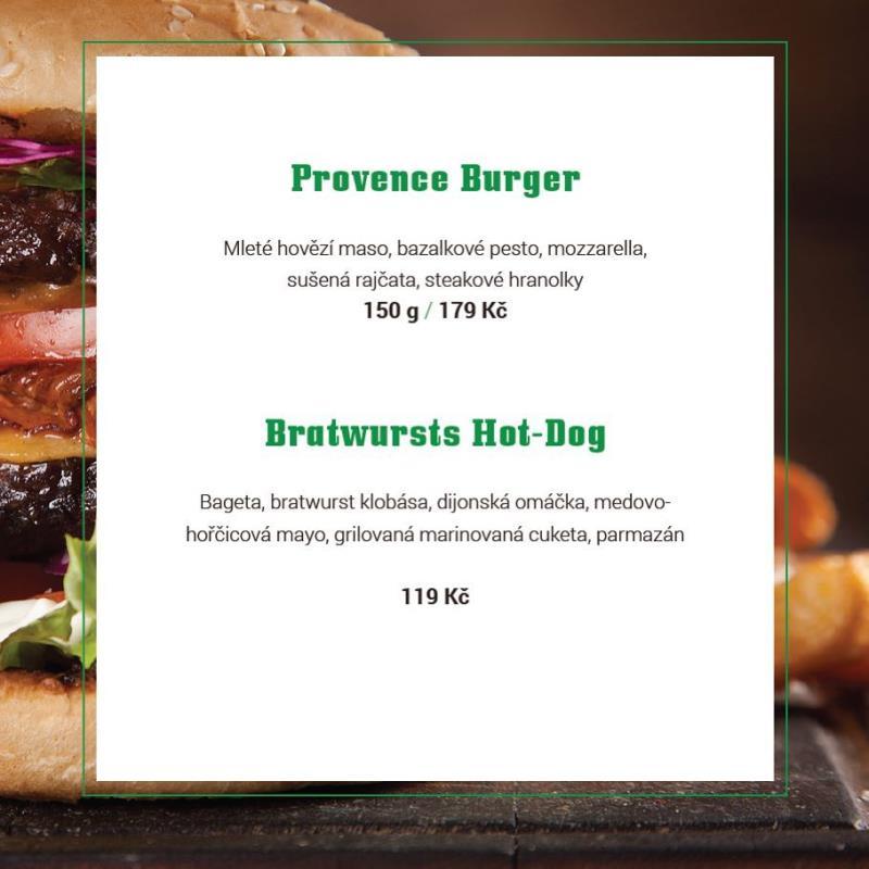 Když burger, tak jedině se vším, co má takový burger mít. Skvělou housku, šťavnaté maso, boží pesto z bazalky...