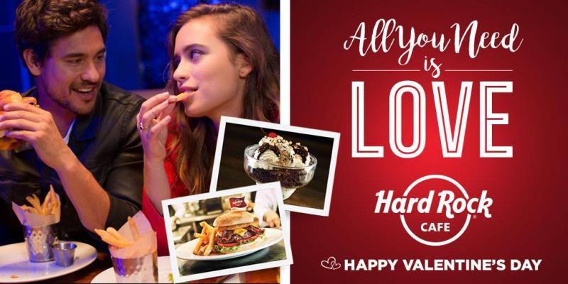 Pozvěte svoji drahou polovičku a užijte si večer plný skvělé hudby a skvělého jídla v největším Hard Rock Cafe v Evropě.