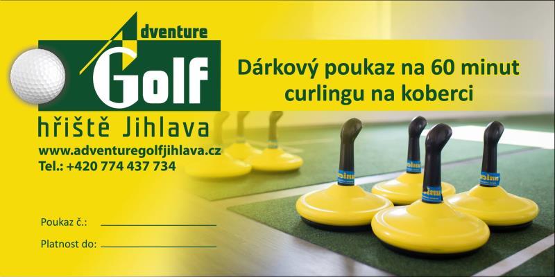 Zakupte vašim blízkým třeba tento poukaz v Adventure Golf Jihlava
