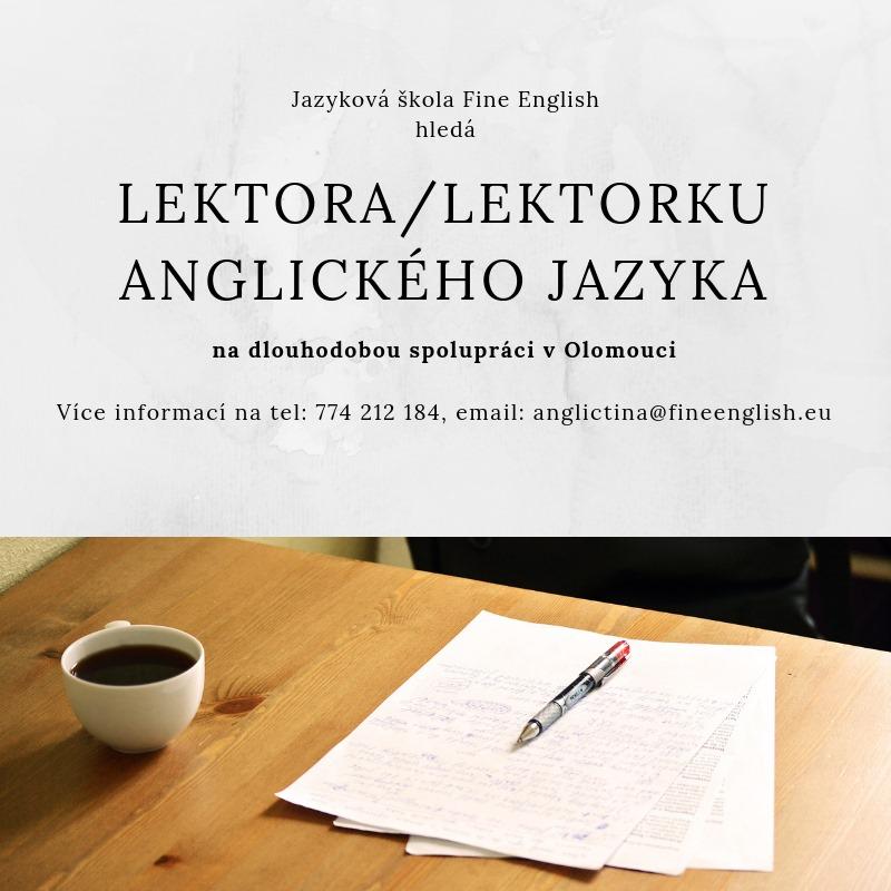 Hledáme lektora/ku anglického jazyka na dlouhodobou spolupráci. Přihlaste se nám. :)