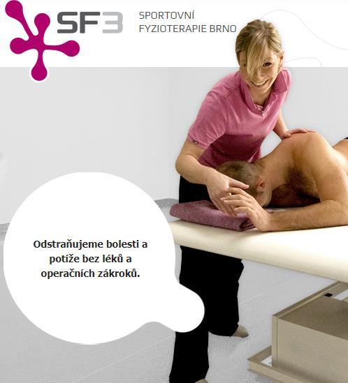 Sportovní fyzioterapie Brno je zdravotnické zařízení, které se zaměřuje na poskytování zdravotní péče pro sportující mládež, vrcholové a profesionální sportovce.