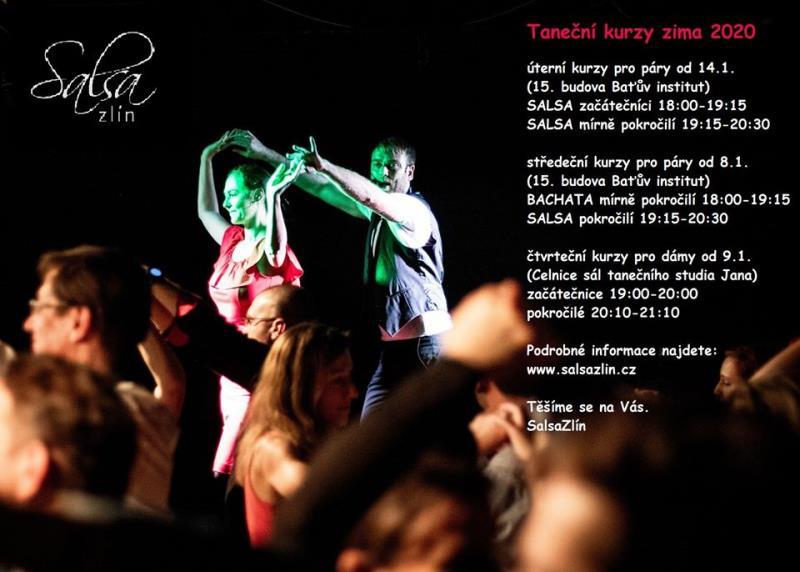 Pište si do kalendářů, nové taneční kurzy SALSA, BACHATA začínají v lednu!!!