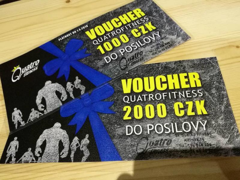 Máme pro vás dárkové poukazy v hodnotách 1000 a 2000.