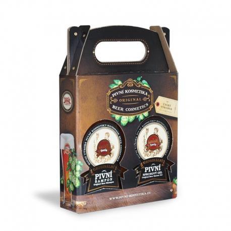 Dárkové balení Saela pivní šampon + sprchový gel Dárková sada pivní kosmetiky obsahuje:  PIVNÍ ŠAMPON 300ml  PIVNÍ SPRCHOVÝ GEL 300m