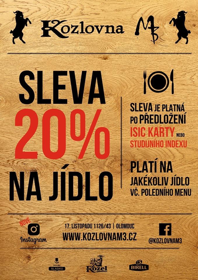 TUDENTI POZOR!!! Od 16. září do 21. října 2019 máte u nás, při předložení ISIC karty nebo indexu - 20% SLEVU ! na veškeré jídlo. Platí i na obědové menu!