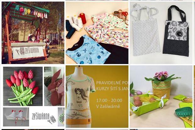 Veřejná šicí dílna v Liberci - kurzy šití, háčkování, pletení, filcování - zakázkové šití - nabídka místních textilních tvůrců - látky a další materiál