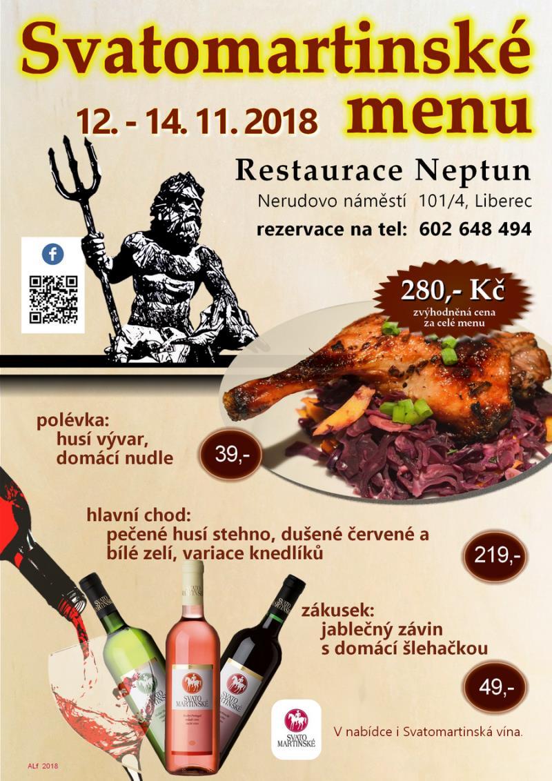 Svatomartinské menu / 12. - 14. 11. 2018