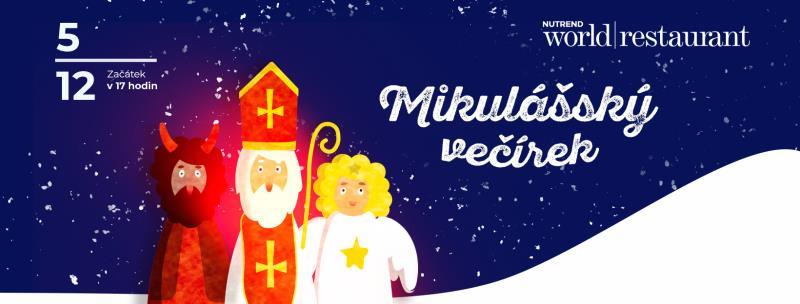 Přijďte k nám s Vašimi dětmi ve čtvrtek 5. prosince na Mikulášský večírek.