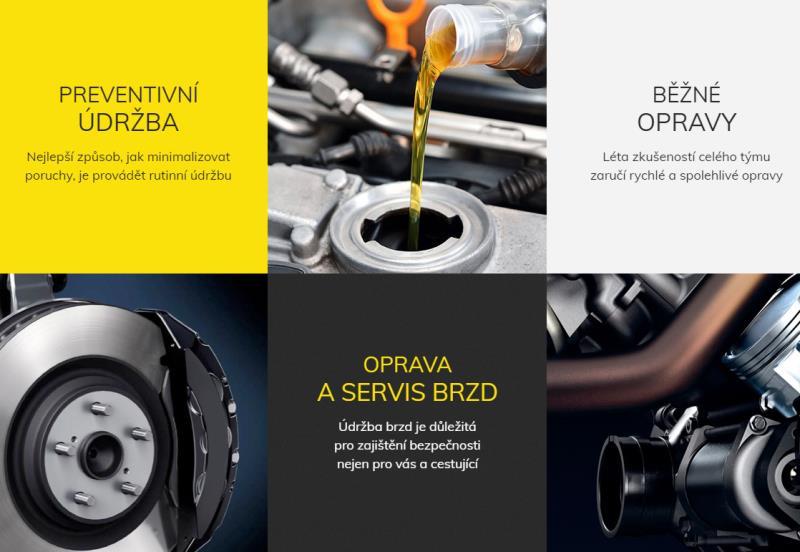 Nabízíme běžný servis jako : - oleje a filtry - brzdy a brzdová kapalina - veškeré mechanické a karosářské práce - zprostředkování STK Volejte PO - PÁ 10 -20 na tel: 608 860 954