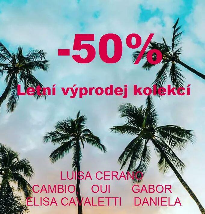 Nenechte si ujít letní výprodeje značek Luisa Cerano, Elisa Cavaletti, Daniela, Cambio, Oui, Gabor