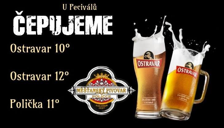Přijďte strávit páteční večer s přáteli k Peciválům!  O dobré pivo a kus zábavy u nás není nouze ;)