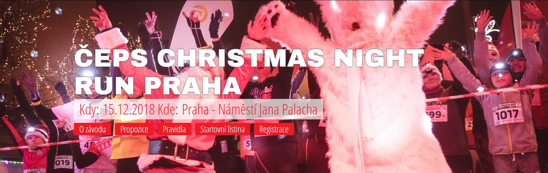 ČEPS Christmas NIGHT RUN Praha 2018