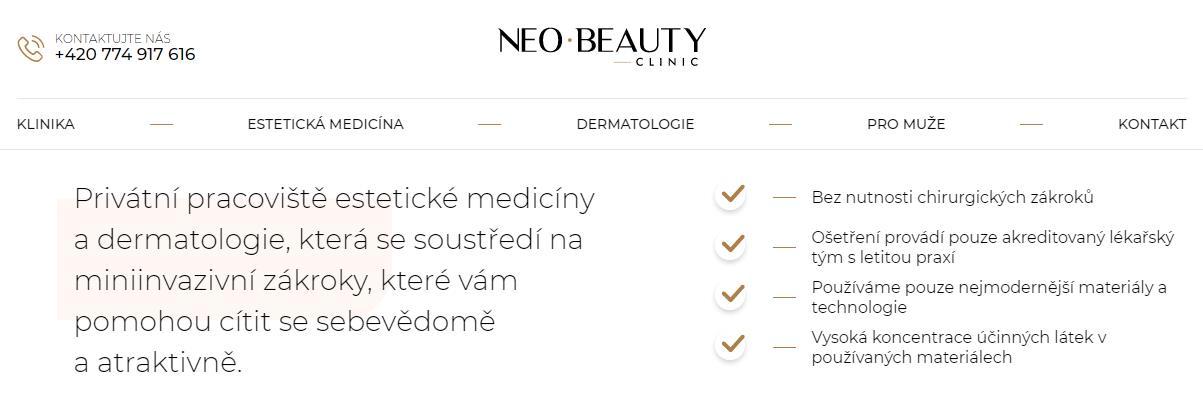 Klinika estetické medicíny - NEO BEAUTY