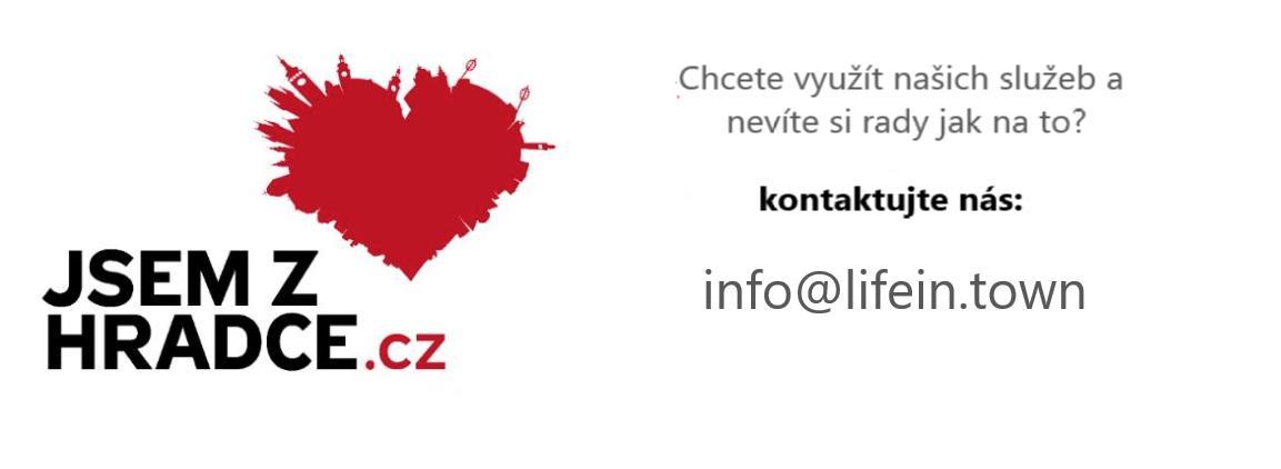 Kontakt na portál Jsem z Hradce